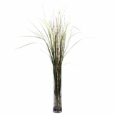 Grass and Bamboo with Cylinder Silk Plant - Nearly Natural - 6699