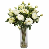Giant Peony Silk Flower Arrangement - Nearly Natural - 1231-WH