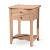 Lamp Table with 2 Drawers - OT-92
