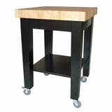 Kitchen Island in Black / Natural - WC19-2424