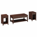 Grand Expressions Americana 3 Piece Occasional Table Set in Warm Molasses - Kathy Ireland