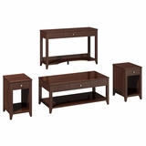 Grand Expressions Americana 4 Piece Occasional Table Set in Warm Molasses - Kathy Ireland