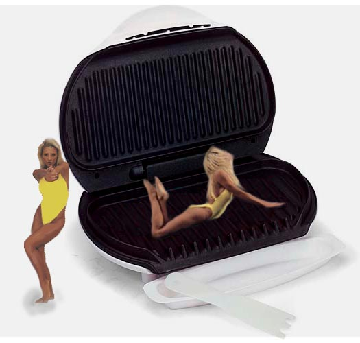 The George Foreman Lean Mean Tanning Machine