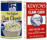 Clam Cake Mixes/Clam Chowders & Quahogs