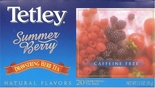 * Tetley Summer Berry Herbal Decaf Drawstring Tea (5497) 20 Bags
