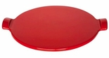 Emile Henry Red Flame Top Pizza Stone 14.5 Inch