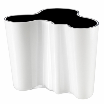 Aalto White / Black Dual Colored Vase � 6-1/4