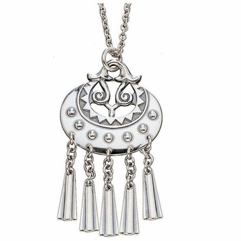 Kalevala Moon Goddess Silver Pendant Necklace - Click to enlarge
