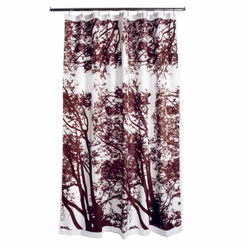Marimekko Tuuli Brown Long Polyester Shower Curtain - Click to enlarge