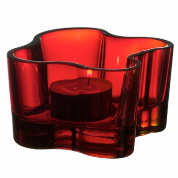 iittala Aalto Votive Candle Holder - Red - Click to enlarge