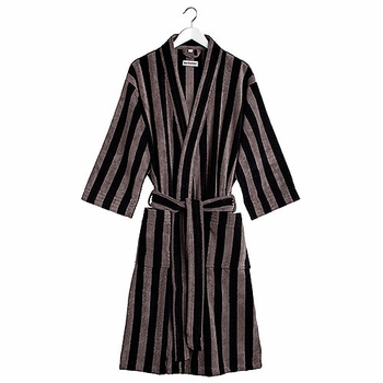 Marimekko Nimikko Black/Grey Bath Robe - Click to enlarge