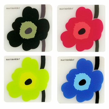 Marimekko Unikko Coasters - Set of 6 - Click to enlarge