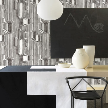 Marimekko Frekvenssi Black & White Wallpaper - Click to enlarge