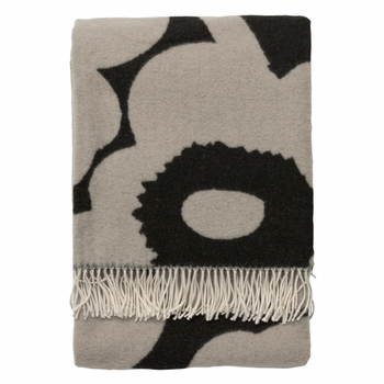Marimekko Unikko Black/Grey Blanket - Click to enlarge