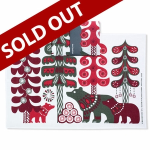Marimekko Karhut Bears Tea Towel - Click to enlarge