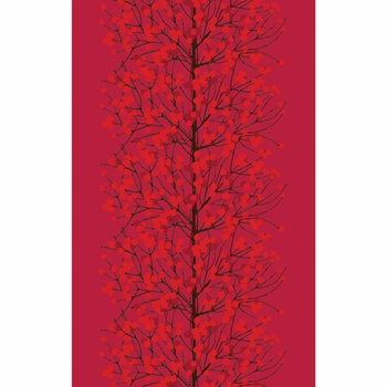 Marimekko Lumimarja Large Red Tablecloth  - Click to enlarge