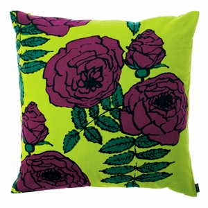 Marimekko Ruhtinatar Velvet Throw Pillow - Click to enlarge