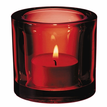 iittala Kivi Candle Holder - Red - Click to enlarge