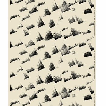 Marimekko Trombi Eggshell/Black Fabric - Click to enlarge