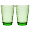 iittala Aino Aalto Apple Green Large Tumblers - Set of 2