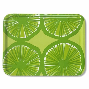 Marimekko Appelsiini Lime Green Serving Tray - Click to enlarge