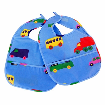 Marimekko Light Blue Bo Boo Bibs - Set of 2 - Click to enlarge