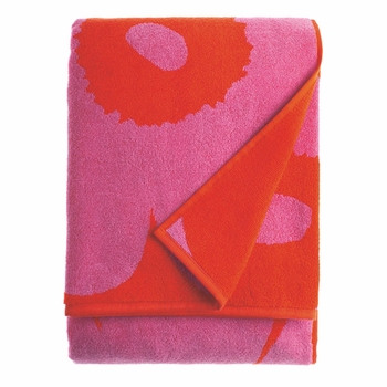 Marimekko Unikko Red/Pink Beach Towel  - Click to enlarge
