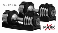 XMark XM-3305 Adjustable Dumbbells - 25lb Pair