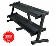 York 2 Tier Shelf Dumbbell Rack