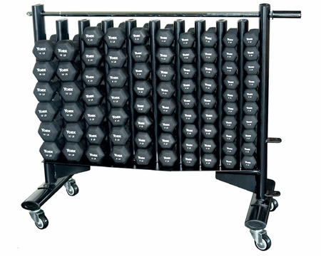 York Neo-Hex Neoprene Dumbbell Club Pack With Rack