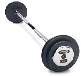 Troy Pro Style Barbells - Chrome End Cap  (120lb - 130lb Set)
