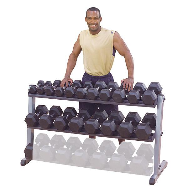 Body Solid GDR60 2-Tier Horizontal Dumbbell Rack