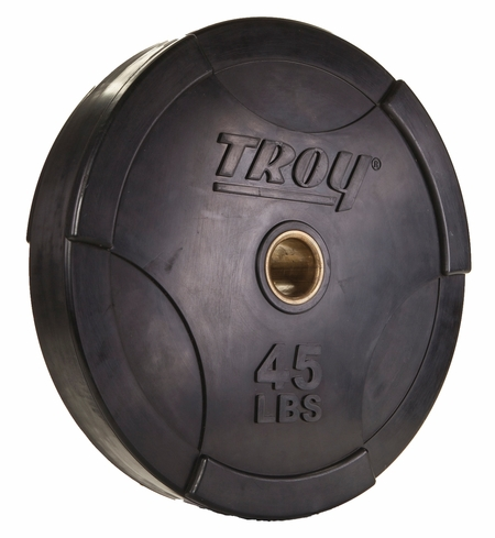 Troy Interlocking Rubber Bumper Plates - 45lb (Pair)