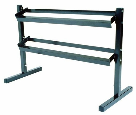York 2 Tier Pro-Hex Dumbbell Rack
