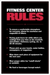 Fitness Center Rules Poster - Laminated