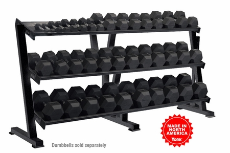 York 3 Tier Shelf Dumbbell Rack