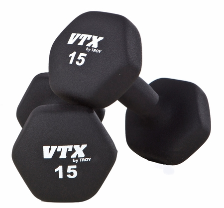Troy VTX Neoprene Dumbbells 3,5,8,10lb Set