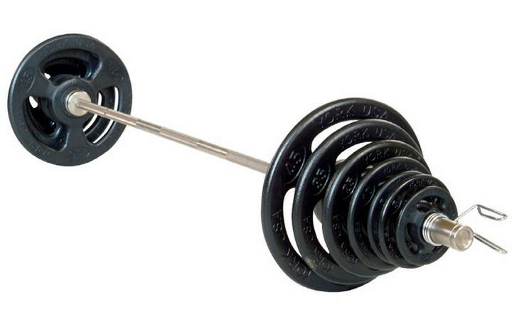 York Rubber Encased ISO-Grip Olympic Weight Set