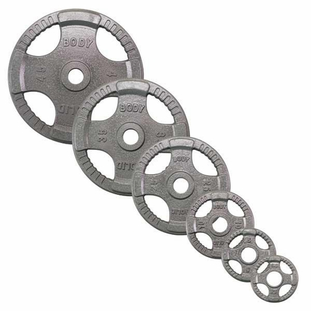 Body Solid Olympic Grip Weight Plate Set - 255lbs