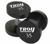 5 - 125lb Set Troy Urethane Coated Dumbbells