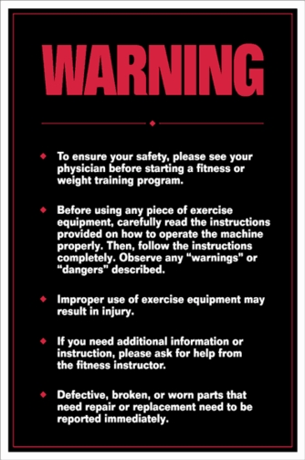 Warning Poster - Laminated