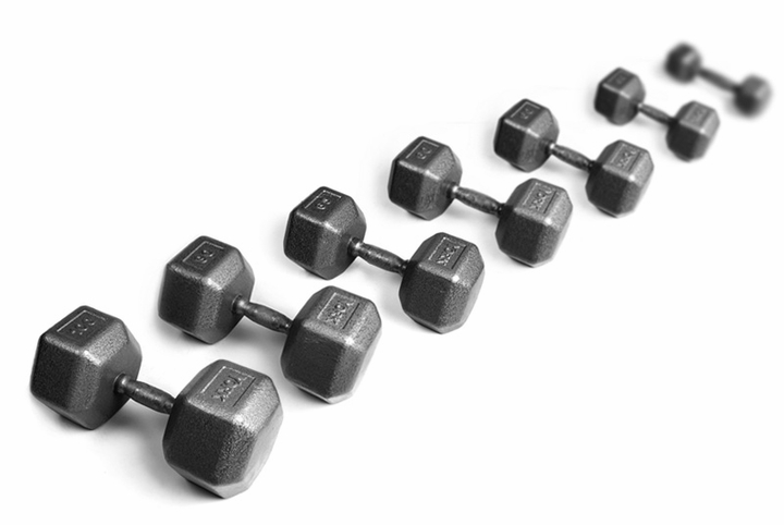 York Iron Pro Hex Dumbbells 5 -100lb Set