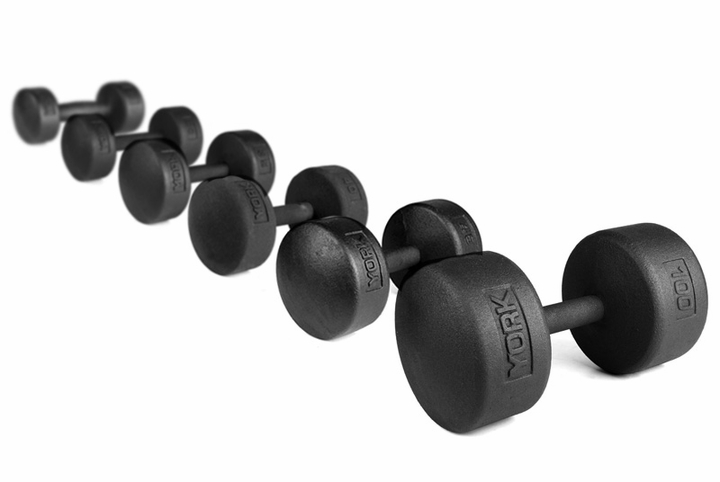 York Legacy Solid Round Dumbbells 55lb-100lb Set