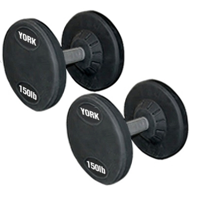 York Rubber Coated Pro Style Dumbbells (105LB To 125LB) Set