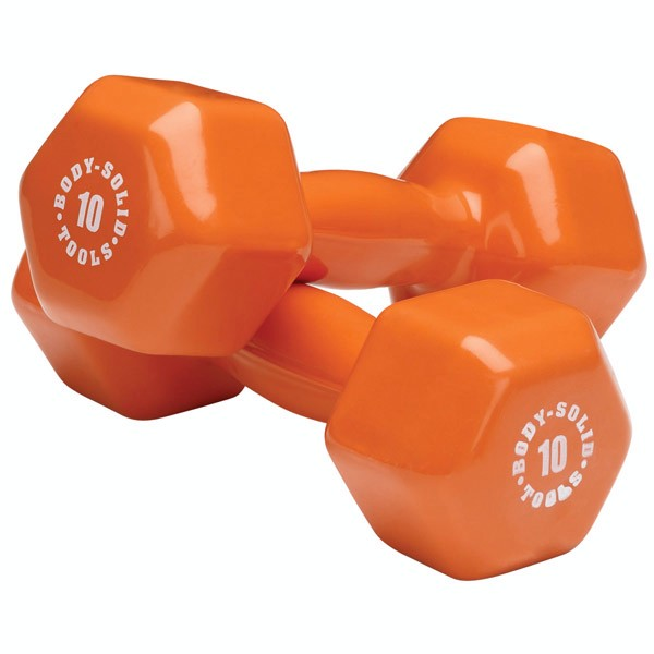 Body Solid Vinyl Dumbbell Set 3,5,8,10lb