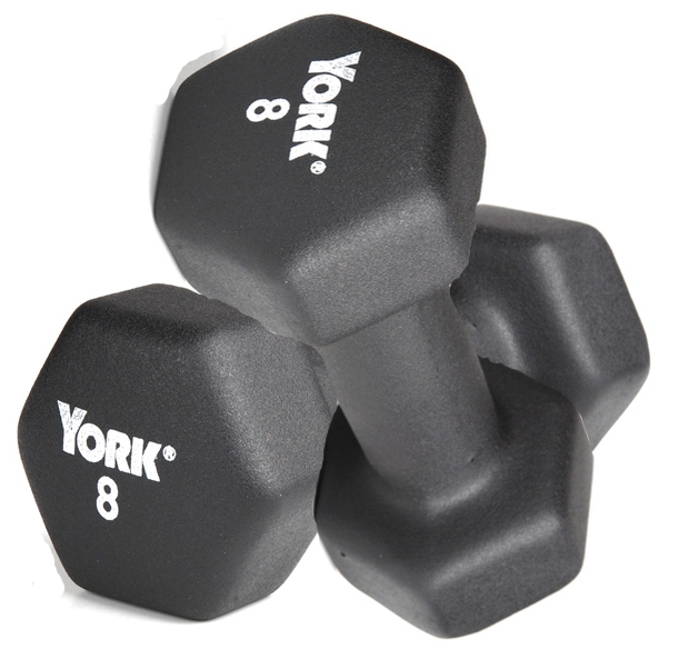 York Neo-Hex Neoprene Dumbbells 3,5,8,10lb Set