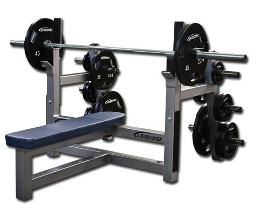 Legend Olympic Flat Bench W/ Plate Storage 3150