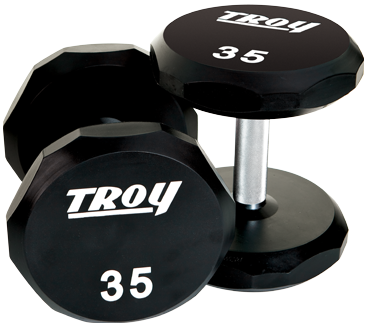Troy Urethane 12 Sided Dumbbells 55-75lb Set