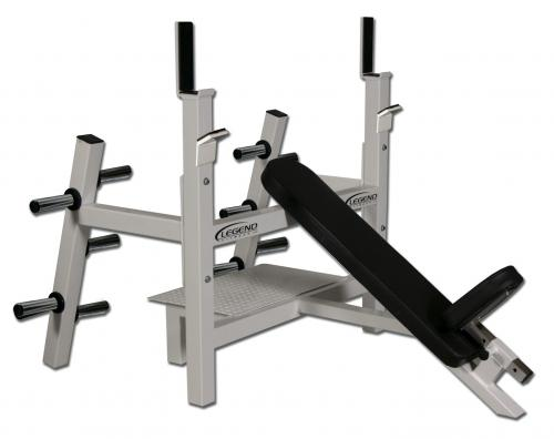 Legend Olympic Incline Bench W/ Plate Storage 3154
