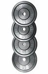 York 230lb Solid Rubber Bumper Plate Set